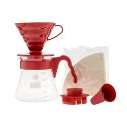 Hario zestaw V60 Pour Over Kit Red