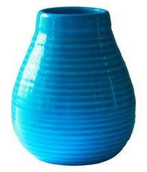 Matero Ceramiczne Calabaza niebieskie w prążki