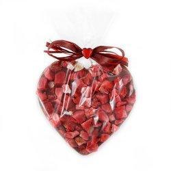 Serce z mlecznej czekolady z truskawkami Cortez