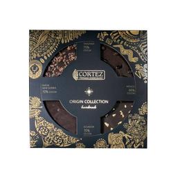 Zestaw czekoladek CORTEZ PREMIUM CHOCOLATE ORIGIN 140g (4x35g)