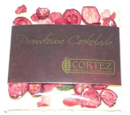 Cortez mini-czekolada biała pistacje i żurawina