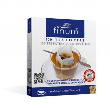 Finum filtry jednorazowe do herbaty 100szt. + szpadka do filtra