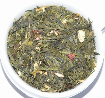Herbata zielona - Truskawki w Śmietanie
