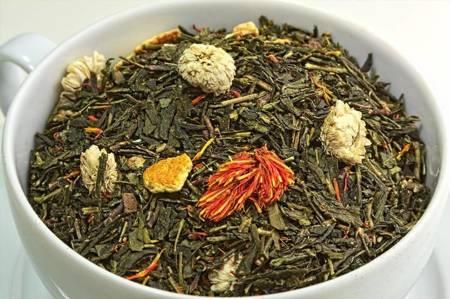 Herbata zielona - Żeńszeń z Pomarańczą