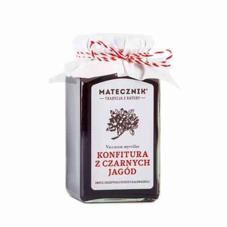 Konfitura z czarnych jagód 300g Matecznik