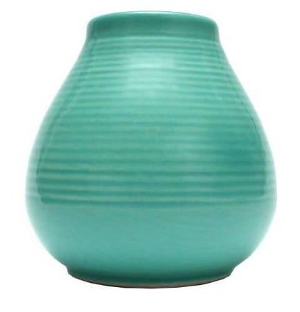 Matero Ceramiczne Pera turkusowe w prążki