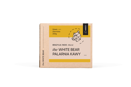 The White Bear Brazylia/Indie 250g kawa ziarnista